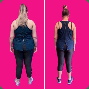 Georgia lost 14 kilos in 3 months